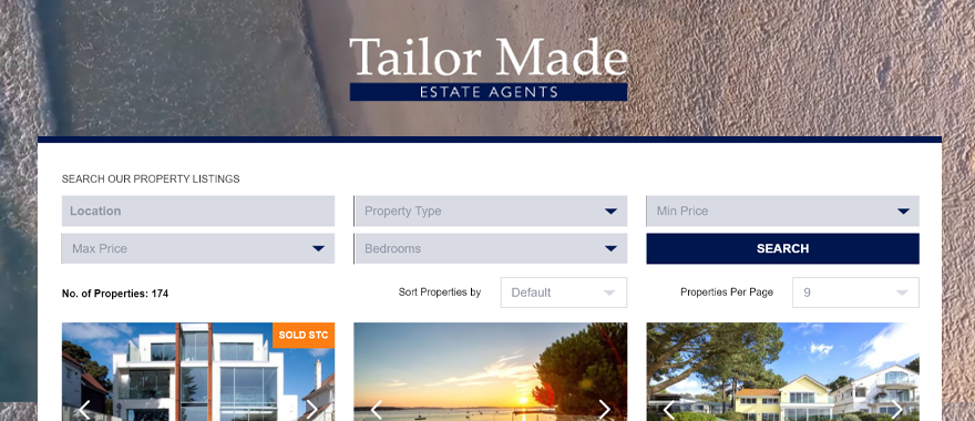 Tailor Made Estate Agents - property search results
